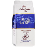 Кофе Ambassador Blue Label в зернах 0,2кг